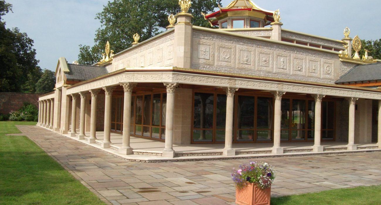 Visit the beautiful Manjushri KMC at Conishead Priory