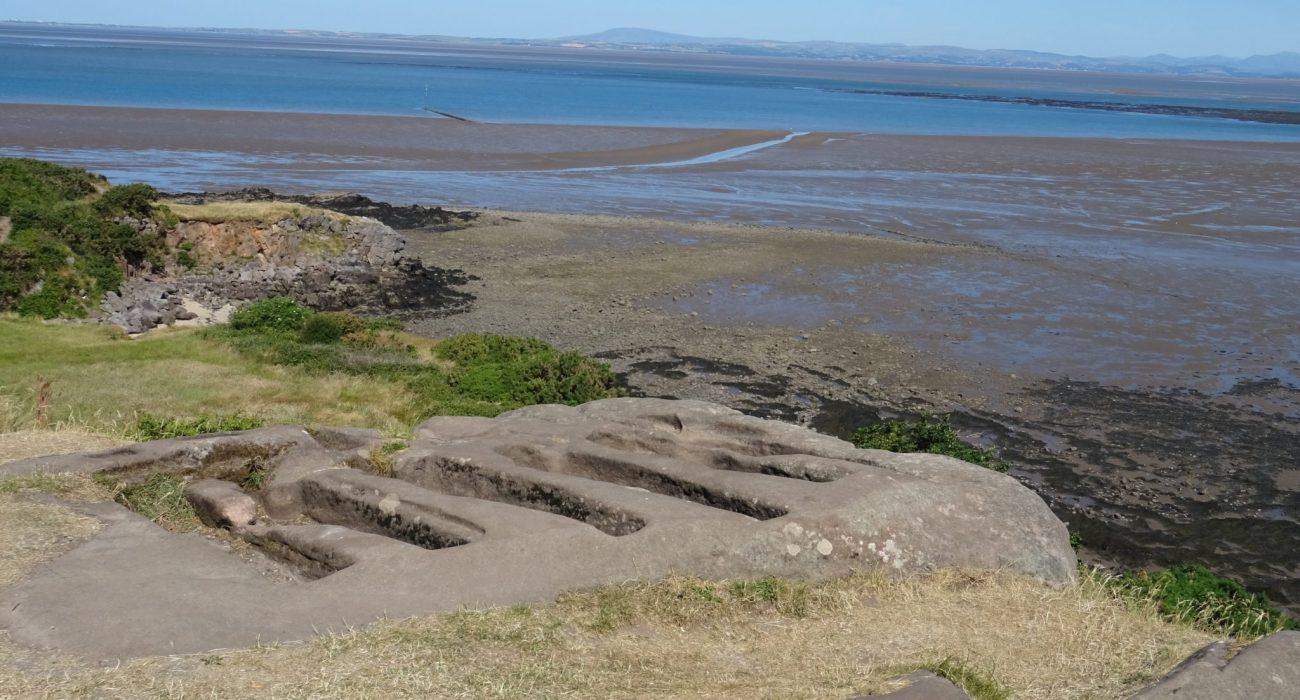 Eight rock-cut graves at St Patrick's Chapel, Heysham