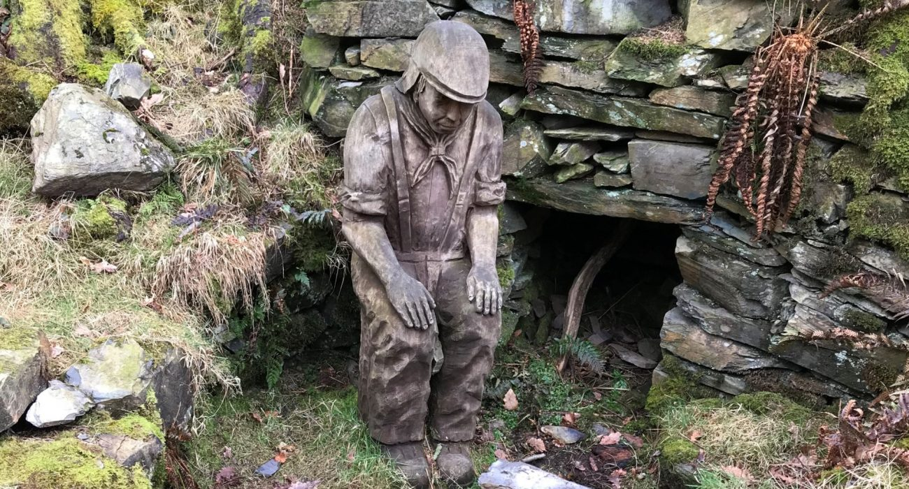 Charcoal Man Sculpture